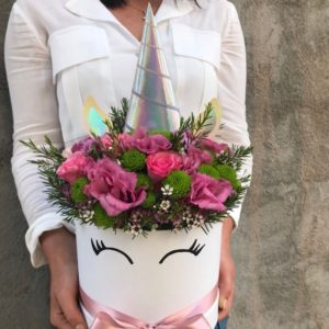 Unicorn theme flower box