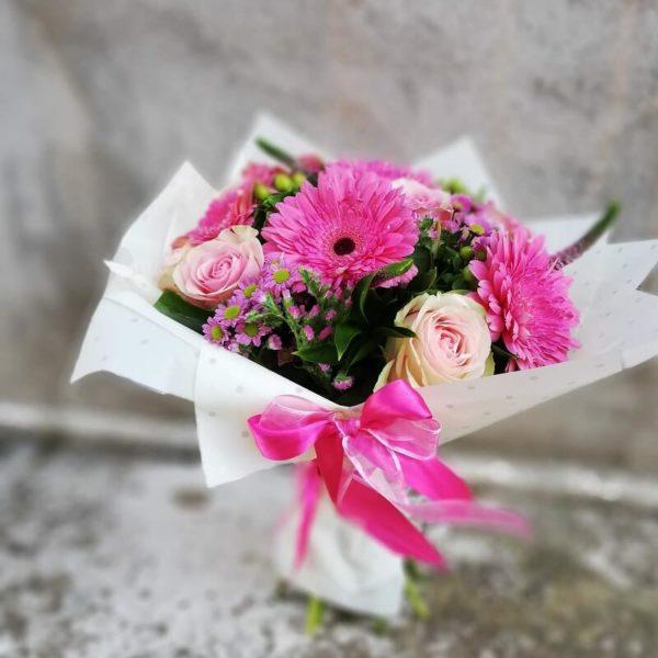 Букет из роз и гербер кипр