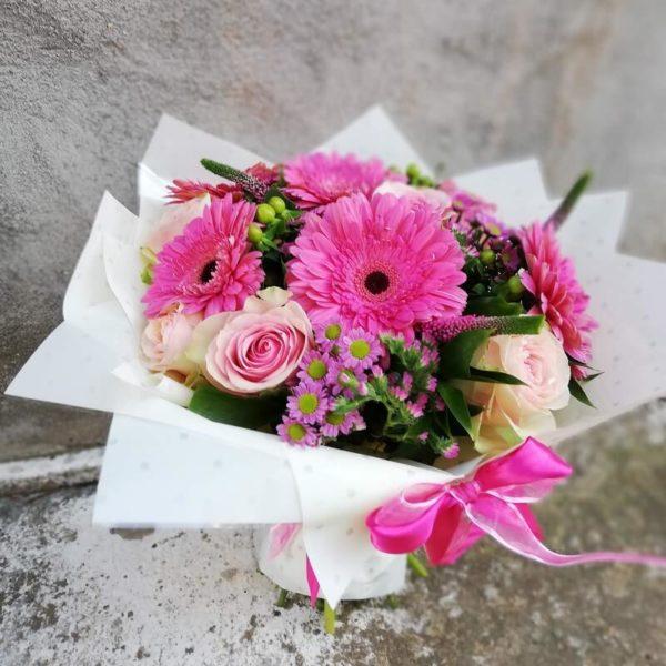 Букет из роз и гербер