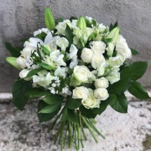 A bouquet of their white flowers