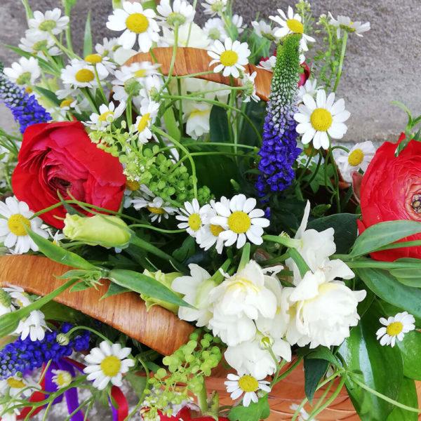Pretty basket with garden flowers cyprus