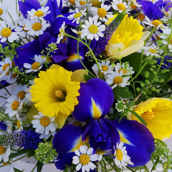 Summer iris & narcissus bouquet cyprus