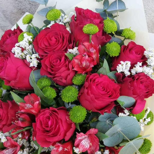 Roses and alstromerias bouquet limassol