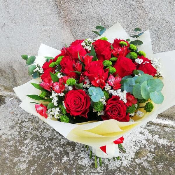 Roses and alstromerias bouquet cyprus
