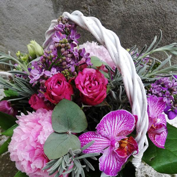 Милая корзинка с орхидеей кипр